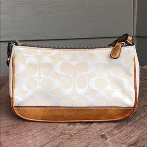Authentic Coach Leather/Canvas Small Purse